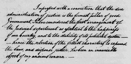 Washington's letter